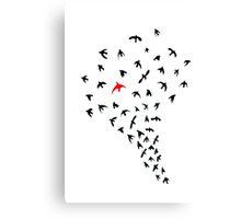 Unique bird Canvas Print