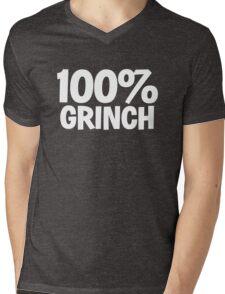 100% Grinch Mens V-Neck T-Shirt