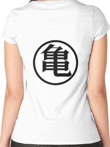 Dragonball Muten Symbol Women's Fitted Scoop T-Shirt