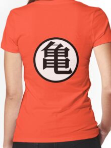 Dragonball Muten Symbol Women's Fitted V-Neck T-Shirt
