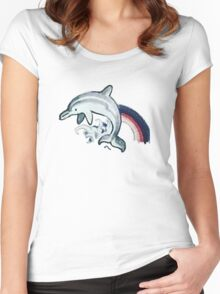 Dolphin Tattoo Women's Fitted Scoop T-Shirt