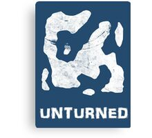 Unturned Map  Canvas Print