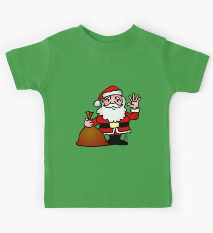 Santa Claus waving Kids Tee