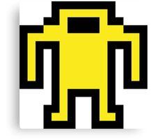 Pixel Berzerk Robot Canvas Print
