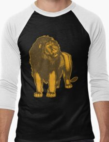 Lone Lion by Cheerful Madness!! Men's Baseball ¾ T-Shirt
