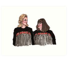 French and Saunders Art Print