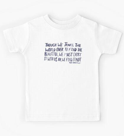 Ralph Waldo Emerson: Beautiful Kids Tee