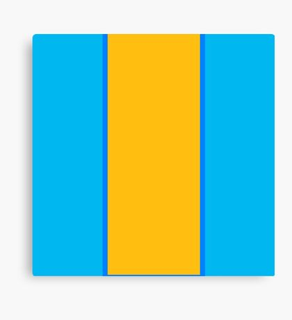 Franklin Blue and Keystone Gold Vertically-Striped Canvas Print