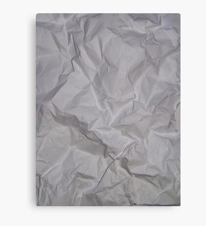 CRUMPLED PAPER (Textures) Canvas Print