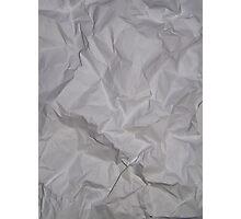 CRUMPLED PAPER (Textures) Photographic Print