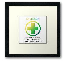 Mmorpg Class Healer Framed Print