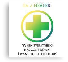 Mmorpg Class Healer Canvas Print