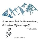 I am Never Lost In The Mountains by Lee Hiller