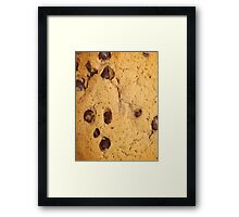 CHOCOLATE CHIP COOKIE (Textures) Framed Print