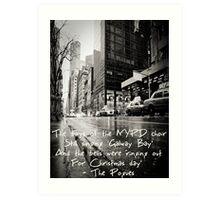 Fairytale of New York Art Print