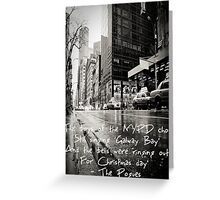 Fairytale of New York Greeting Card