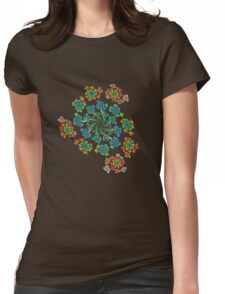 Flowers #Fractal Art Womens Fitted T-Shirt