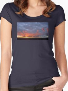 Amazing Sunset Clouds Women's Fitted Scoop T-Shirt