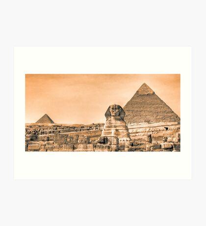 Well Worn Roads - Egyptian Sphinx Panorama Art Print