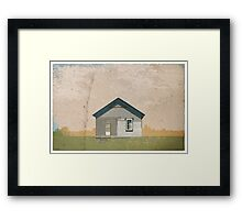 Frankfort Building Illustration Framed Print