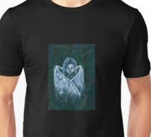 little angel embracing wings Unisex T-Shirt