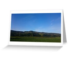 Field and mountain Greeting Card