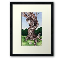 Hoo goes there? Framed Print