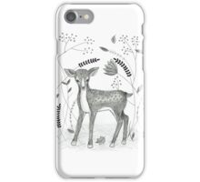 Sweet Deer in Beautiful Garden iPhone Case/Skin