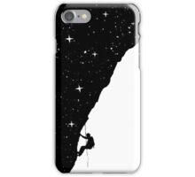 homme, sélever, nuit, surréaliste, humour, drôle, noir, blanc, silhouette, étoiles iPhone Case/Skin