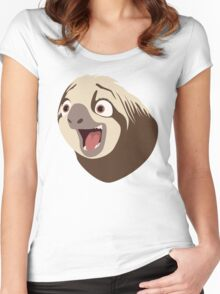 Sloth flash Women's Fitted Scoop T-Shirt