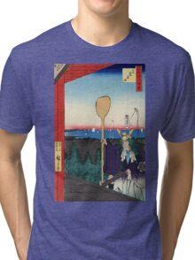 Mount Atago Shiba - Hiroshige Ando - 1857 Tri-blend T-Shirt