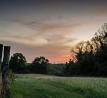 Fog at Sunset by rebholzdesigns