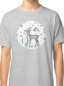 Sweet Deer in Beautiful Garden Classic T-Shirt