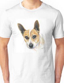 Colour Pencil Portrait of our dog Skippy Unisex T-Shirt