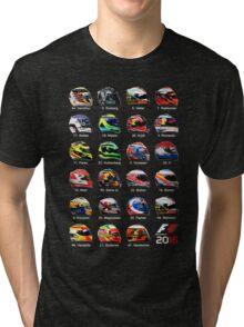 Formula 1 2016 drivers helmets all Tri-blend T-Shirt