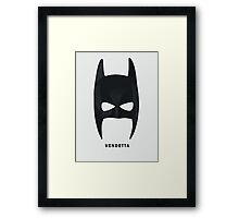 The Dark Knight - Vendetta Mask Framed Print