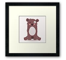 Cute brown bear Framed Print