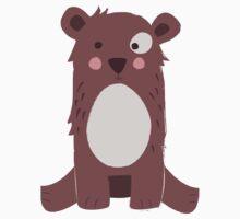 Cute brown bear Kids Tee
