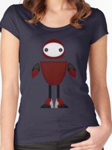 Robot Character #110 Women's Fitted Scoop T-Shirt