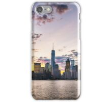 Vivid Sunrise over Downtown New York City Skyline iPhone Case/Skin