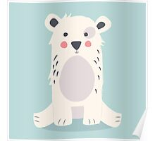 Cute polar bear Poster