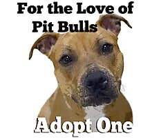 For the Love of Pit Bulls Adopt One Photographic Print