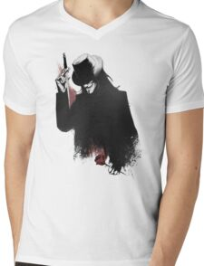 v for vendetta Mens V-Neck T-Shirt