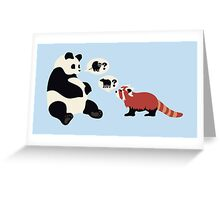Questioning Pandas Greeting Card