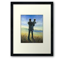 DAD AND ME FATHER AND SON Framed Print