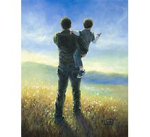 DAD AND ME FATHER AND SON Photographic Print