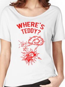 Where is Teddy? Women's Relaxed Fit T-Shirt