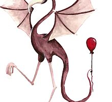 The Masked Flamactyl Gained a Balloon Friend by Aimée Becker
