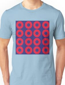 Red and Blue Polka dot Unisex T-Shirt