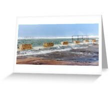 Newcastle Ocean Baths Greeting Card
